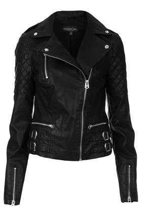 Tall Biker Jacket - pattern: plain; style: biker; collar: asymmetric biker; fit: slim fit; predominant colour: black; occasions: casual, evening, work; length: standard; fibres: polyester/polyamide - 100%; sleeve length: long sleeve; sleeve style: standard; texture group: leather; collar break: medium; pattern type: fabric; pattern size: standard; season: a/w 2012
