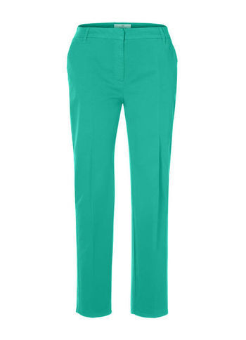 Chino Trousers - pattern: plain; pocket detail: small back pockets, pockets at the sides; waist: mid/regular rise; predominant colour: mint green; occasions: casual, evening, work, holiday; length: ankle length; style: chino; fibres: cotton - stretch; texture group: cotton feel fabrics; fit: straight leg; pattern type: fabric; season: a/w 2012