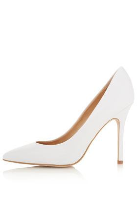 Gwenda Pointed Court Shoes - predominant colour: white; occasions: casual, evening, work, occasion; material: leather; heel height: high; heel: stiletto; toe: pointed toe; style: courts; finish: plain; pattern: plain; season: a/w 2012