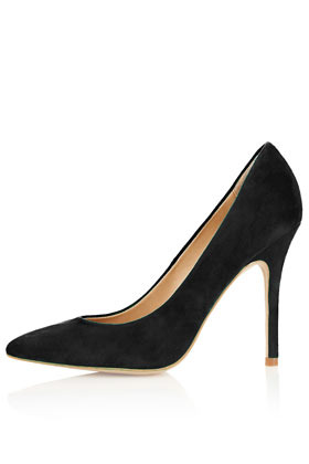 Gwenda Pointed Court Shoes - predominant colour: black; occasions: evening, work, occasion; material: suede; heel height: high; heel: stiletto; toe: pointed toe; style: courts; finish: plain; pattern: plain; season: a/w 2012