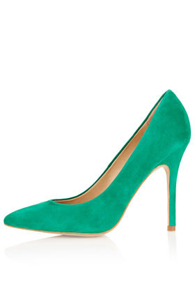 Gwenda Pointed Court Shoes - predominant colour: emerald green; occasions: evening, work, occasion; material: suede; heel height: high; heel: stiletto; toe: pointed toe; style: courts; finish: plain; pattern: plain; season: a/w 2012