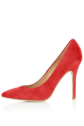 Gwenda Pointed Court Shoes - predominant colour: true red; occasions: casual, evening, work, occasion; material: suede; heel height: high; heel: stiletto; toe: pointed toe; style: courts; finish: plain; pattern: plain; season: a/w 2012