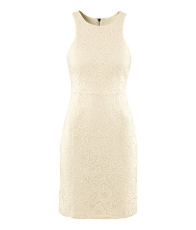 Dress - style: shift; neckline: round neck; sleeve style: sleeveless; hip detail: draws attention to hips; predominant colour: ivory/cream; occasions: evening, occasion; length: just above the knee; fit: body skimming; fibres: cotton - mix; sleeve length: sleeveless; texture group: lace; pattern type: fabric; pattern size: standard; pattern: patterned/print; season: s/s 2013; wardrobe: event