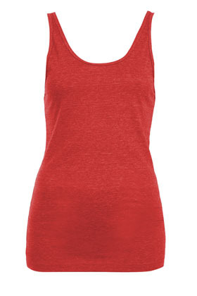 Petite Basic Jersey Vest - pattern: plain; sleeve style: sleeveless; style: vest top; back detail: back revealing; predominant colour: true red; occasions: casual; length: standard; neckline: scoop; fibres: cotton - 100%; fit: body skimming; sleeve length: sleeveless; pattern type: fabric; pattern size: standard; texture group: jersey - stretchy/drapey; season: s/s 2013