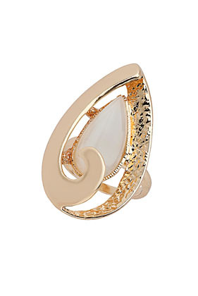 Oval Swirl Catseye Ring - predominant colour: gold; occasions: casual, evening, work, occasion; style: cocktail; size: large/oversized; material: chain/metal; trends: metallics; finish: metallic; season: s/s 2013