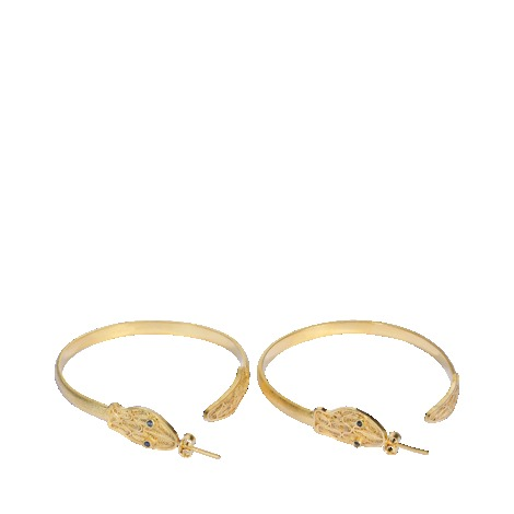 Jazmin Earrings - predominant colour: gold; occasions: casual, evening, occasion; style: hoop; length: mid; size: large/oversized; material: chain/metal; fastening: pierced; finish: metallic; embellishment: jewels/stone; season: s/s 2013