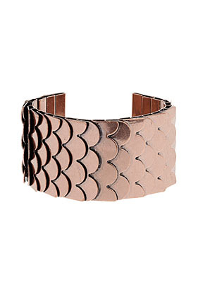 Metal Layer Cuff - predominant colour: gold; occasions: evening, work, occasion, holiday; style: cuff; size: large/oversized; material: chain/metal; trends: metallics; finish: metallic; embellishment: chain/metal; season: s/s 2013
