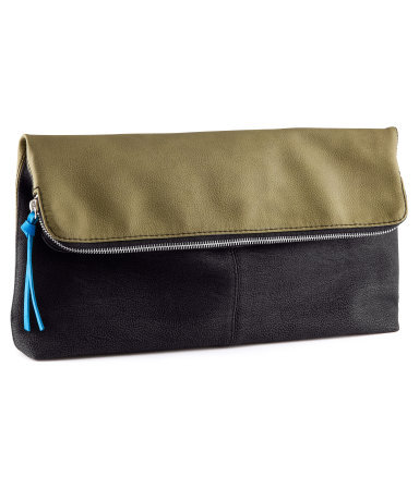 Clutch - predominant colour: black; occasions: evening, occasion, holiday; type of pattern: standard; style: clutch; length: hand carry; size: small; material: faux leather; embellishment: zips; finish: plain; pattern: colourblock; season: s/s 2013