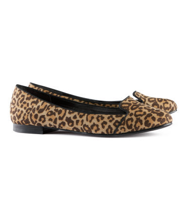 Ballet Pumps - predominant colour: camel; occasions: casual, work; material: faux leather; heel height: flat; toe: round toe; style: ballerinas / pumps; trends: statement prints; finish: plain; pattern: animal print; season: s/s 2013
