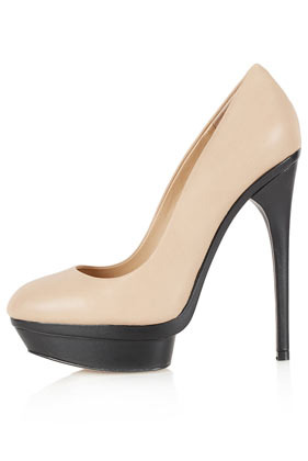 Shola Through Sole Platforms - predominant colour: nude; occasions: evening, occasion; material: leather; heel height: high; heel: stiletto; toe: round toe; style: courts; finish: plain; pattern: colourblock; shoe detail: platform; season: s/s 2013