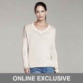 Chunky Sparkle V Neck Sweater Winter White Winter White, Large - neckline: v-neck; pattern: plain; style: standard; predominant colour: white; occasions: casual, work, creative work; length: standard; fibres: cotton - mix; fit: standard fit; sleeve length: long sleeve; sleeve style: standard; texture group: knits/crochet; pattern type: knitted - fine stitch; season: s/s 2016