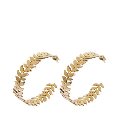 Gaby Earrings - predominant colour: gold; occasions: evening, work, occasion, holiday; style: hoop; length: long; size: standard; material: chain/metal; fastening: pierced; trends: metallics; finish: plain; embellishment: chain/metal; season: s/s 2013