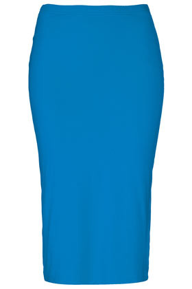 Double Layer Tube Skirt - length: below the knee; pattern: plain; fit: tight; waist detail: elasticated waist; waist: high rise; predominant colour: diva blue; occasions: casual, evening; fibres: cotton - stretch; style: tube; texture group: jersey - clingy; pattern type: fabric; season: s/s 2013; wardrobe: highlight