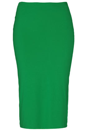 Double Layer Tube Skirt - length: below the knee; pattern: plain; fit: tight; waist detail: elasticated waist, fitted waist; waist: high rise; hip detail: fitted at hip; predominant colour: emerald green; occasions: casual, evening; fibres: cotton - stretch; style: tube; texture group: jersey - clingy; pattern type: fabric; season: s/s 2013; pattern size: standard (bottom)