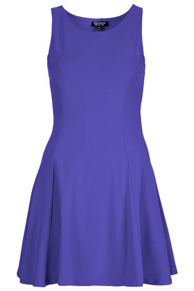 Clean Seam Flippy Tunic - style: tunic; length: mid thigh; neckline: round neck; pattern: plain; sleeve style: sleeveless; waist detail: fitted waist; predominant colour: royal blue; occasions: casual, evening, occasion; fit: soft a-line; fibres: cotton - stretch; hip detail: structured pleats at hip, soft pleats at hip/draping at hip/flared at hip; sleeve length: sleeveless; texture group: jersey - clingy; pattern type: fabric; pattern size: standard; season: s/s 2013