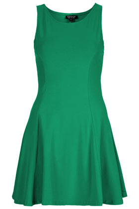 Clean Seam Flippy Tunic - length: mid thigh; neckline: round neck; fit: fitted at waist; pattern: plain; sleeve style: sleeveless; waist detail: fitted waist; predominant colour: emerald green; occasions: casual, evening, occasion; style: fit & flare; fibres: cotton - stretch; hip detail: adds bulk at the hips, subtle/flattering hip detail; sleeve length: sleeveless; trends: glamorous day shifts; pattern type: fabric; pattern size: standard; texture group: jersey - stretchy/drapey; season: s/s 2013