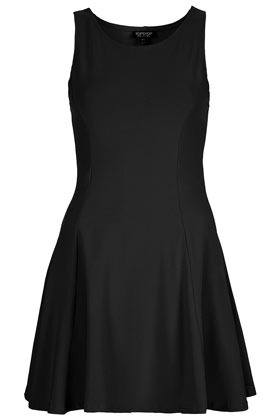 Clean Seam Flippy Tunic - length: mid thigh; neckline: round neck; pattern: plain; sleeve style: sleeveless; waist detail: fitted waist; predominant colour: black; occasions: casual, evening, occasion; fit: fitted at waist & bust; style: fit & flare; fibres: cotton - stretch; hip detail: adds bulk at the hips, subtle/flattering hip detail, sculpting darts/pleats/seams at hip; sleeve length: sleeveless; trends: glamorous day shifts; pattern type: fabric; pattern size: standard; texture group: jersey - stretchy/drapey; season: s/s 2013