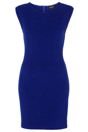 Cap Sleeve Bodycon Dress - length: mini; neckline: round neck; sleeve style: capped; fit: tight; pattern: plain; style: bodycon; waist detail: fitted waist; hip detail: fitted at hip; predominant colour: royal blue; occasions: casual, evening, occasion; fibres: polyester/polyamide - mix; sleeve length: sleeveless; texture group: jersey - clingy; pattern type: fabric; pattern size: standard; season: s/s 2013