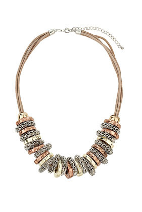 Bolt Thread Necklace - predominant colour: gold; occasions: casual, evening, work, occasion, holiday; length: short; size: large/oversized; material: chain/metal; finish: metallic; style: bib/statement; season: s/s 2013