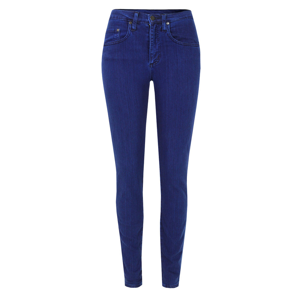 Cult Skinny Azure Jeans - style: skinny leg; length: standard; pattern: plain; pocket detail: small back pockets, pockets at the sides, traditional 5 pocket; waist: high rise; predominant colour: royal blue; occasions: casual; fibres: cotton - stretch; jeans detail: dark wash; texture group: denim; pattern type: fabric; season: s/s 2013; pattern size: standard (bottom)