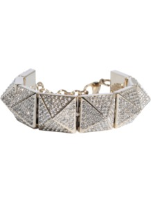 Vavavoom Metal Bracelet - predominant colour: silver; occasions: evening, occasion; style: chain; size: standard; material: chain/metal; trends: metallics; finish: metallic; embellishment: crystals/glass; season: s/s 2013