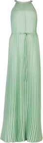 Ted Baker Kaddi Pleated Maxi Dress - fit: fitted at waist; pattern: plain; sleeve style: sleeveless; style: maxi dress; neckline: low halter neck; waist detail: belted waist/tie at waist/drawstring; predominant colour: pistachio; occasions: evening, occasion; length: floor length; fibres: polyester/polyamide - 100%; hip detail: adds bulk at the hips; sleeve length: sleeveless; texture group: sheer fabrics/chiffon/organza etc.; bust detail: bulky details at bust; pattern type: fabric; season: s/s 2013