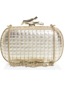 Add A Touch Of High Shine Glamour To Your After Dark Ensemble With Dvf'S Lytton Quilted Clutch. A Gold Finish And Recognisable Twig Shaped Clasp Make This The Perfect Way To Work The Season'S Metallic Trend. Carry Yours With Dark Leather For A Striking Te - predominant colour: gold; occasions: evening, occasion; type of pattern: light; style: clutch; length: hand carry; size: mini; material: leather; embellishment: quilted; pattern: plain; trends: metallics; finish: metallic; season: s/s 2013