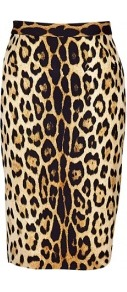 Ultimate Leopard Print Pencil Skirt - style: pencil; fit: tailored/fitted; waist: high rise; predominant colour: camel; secondary colour: black; occasions: casual, evening, occasion; length: just above the knee; fibres: polyester/polyamide - 100%; trends: statement prints; pattern type: fabric; pattern: animal print; texture group: jersey - stretchy/drapey; season: s/s 2013; pattern size: big & busy (bottom)