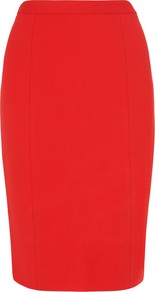 Gail Pencil Skirt, Poppy - pattern: plain; style: pencil; fit: tailored/fitted; waist: high rise; predominant colour: bright orange; occasions: evening, work, occasion; length: on the knee; fibres: polyester/polyamide - stretch; texture group: other - light to midweight; season: s/s 2013