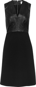 Tennyson Leather Fit And Flare Dress - neckline: v-neck; pattern: plain; sleeve style: sleeveless; predominant colour: black; occasions: evening, occasion; length: just above the knee; fit: fitted at waist & bust; style: fit & flare; fibres: leather - 100%; sleeve length: sleeveless; texture group: leather; pattern type: fabric; trends: gothic romance; season: s/s 2013