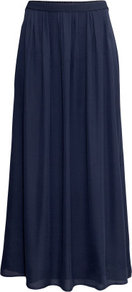 Maxi Skirt - pattern: plain; length: ankle length; fit: loose/voluminous; waist: mid/regular rise; predominant colour: navy; occasions: casual, evening, holiday; style: maxi skirt; fibres: polyester/polyamide - 100%; hip detail: soft pleats at hip/draping at hip/flared at hip; texture group: sheer fabrics/chiffon/organza etc.; pattern type: fabric; season: s/s 2013