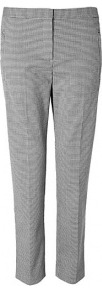 Fulton Fia Houndstooth Straight Leg Trousers - waist: mid/regular rise; occasions: casual, evening, work; length: ankle length; fibres: wool - stretch; pattern: dogtooth; predominant colour: monochrome; fit: slim leg; pattern type: fabric; texture group: woven light midweight; style: standard; season: s/s 2013; pattern size: standard (bottom)