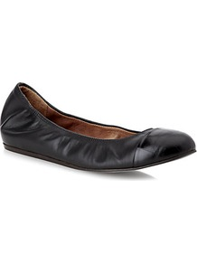 Croc Print Flat - predominant colour: black; occasions: casual, work; material: leather; heel height: flat; toe: round toe; style: ballerinas / pumps; finish: plain; pattern: plain; season: s/s 2013