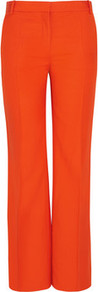 Tailored Slubbed Twill Pants - length: standard; pattern: plain; pocket detail: small back pockets, pockets at the sides; waist: mid/regular rise; predominant colour: bright orange; occasions: casual, evening, occasion; fibres: viscose/rayon - 100%; fit: wide leg; pattern type: fabric; texture group: woven light midweight; style: standard; season: s/s 2013