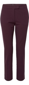 Burgundy New Queen Gabardine Trousers - pattern: plain; pocket detail: small back pockets, pockets at the sides; waist: mid/regular rise; predominant colour: burgundy; occasions: casual, evening, work; length: calf length; style: chino; fit: slim leg; pattern type: fabric; texture group: woven light midweight; fibres: viscose/rayon - mix; trends: broody brights; season: s/s 2013