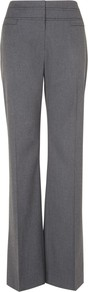 Ginette Temple Trousers, Charcoal - length: standard; pattern: plain; waist: high rise; predominant colour: charcoal; occasions: evening, work; fibres: polyester/polyamide - stretch; fit: wide leg; pattern type: fabric; texture group: other - light to midweight; style: standard; season: s/s 2013