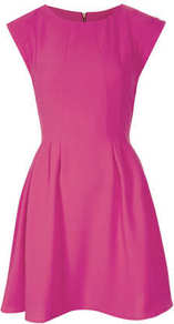Crepe Seam Flippy Dress - style: shift; length: mid thigh; neckline: round neck; sleeve style: capped; pattern: plain; predominant colour: hot pink; occasions: casual, evening, occasion; fit: fitted at waist & bust; fibres: polyester/polyamide - stretch; hip detail: sculpting darts/pleats/seams at hip; back detail: embellishment at back; sleeve length: sleeveless; texture group: crepes; pattern type: fabric; trends: 1940's hitchcock heroines; season: a/w 2013