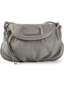 Mini 'electro Q Natasha' Shoulder Bag - predominant colour: mid grey; occasions: casual, work, creative work; style: shoulder; length: shoulder (tucks under arm); size: standard; material: leather; pattern: plain; finish: plain; season: a/w 2014