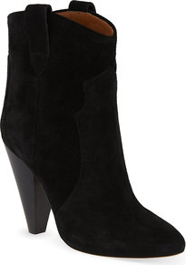 Roxann Ankle Boots, Women's, Eur 39 / 6 Uk Women, Black - predominant colour: black; occasions: casual, creative work; material: suede; heel height: high; heel: cone; toe: round toe; boot length: ankle boot; style: cowboy; finish: plain; pattern: plain; season: s/s 2015