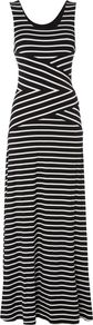 Stripe Maxi Dress, Black - neckline: round neck; sleeve style: sleeveless; style: maxi dress; pattern: striped; length: ankle length; secondary colour: white; predominant colour: black; occasions: casual; fit: body skimming; fibres: polyester/polyamide - stretch; sleeve length: sleeveless; pattern type: fabric; texture group: jersey - stretchy/drapey; multicoloured: multicoloured; season: s/s 2016; wardrobe: highlight
