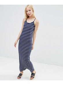 Striped Jersey Maxi Dress Navy - pattern: horizontal stripes; sleeve style: sleeveless; style: maxi dress; length: ankle length; secondary colour: white; predominant colour: navy; occasions: casual; fit: body skimming; neckline: scoop; fibres: polyester/polyamide - stretch; sleeve length: sleeveless; pattern type: fabric; texture group: jersey - stretchy/drapey; multicoloured: multicoloured; season: s/s 2016; wardrobe: basic
