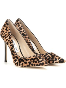Romy 100 Printed Calf Hair Pumps - predominant colour: camel; secondary colour: black; occasions: evening, occasion; material: animal skin; heel height: high; heel: stiletto; toe: pointed toe; style: courts; finish: plain; pattern: animal print; season: s/s 2016; wardrobe: event