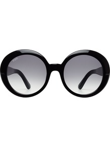 Tod\'s Oversize Sunglasses None - predominant colour: black; occasions: casual, holiday; style: round; size: large; material: plastic/rubber; pattern: plain; finish: plain; season: s/s 2016; wardrobe: basic