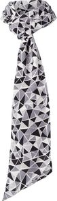 Triangle Print Skinny, Monochrome - predominant colour: mid grey; secondary colour: black; occasions: casual; type of pattern: standard; style: regular; size: standard; material: fabric; pattern: patterned/print; multicoloured: multicoloured; season: s/s 2016; wardrobe: highlight
