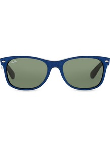 Rb2132 New Wayfarer Soft Touch Sunglasses, Women's, Alcantara - predominant colour: navy; occasions: casual, holiday; style: d frame; size: standard; material: plastic/rubber; pattern: plain; finish: plain; season: s/s 2016; wardrobe: basic