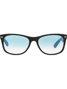 Rb2132 New Wayfarer Soft Touch Sunglasses, Women's, Alcantara - predominant colour: black; occasions: casual, holiday; style: d frame; size: standard; material: plastic/rubber; pattern: plain; finish: plain; season: s/s 2016; wardrobe: basic