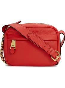 Red Leather Shoulder Bag - predominant colour: true red; occasions: casual, creative work; type of pattern: standard; style: shoulder; length: shoulder (tucks under arm); size: small; material: leather; pattern: plain; finish: plain; season: s/s 2016; wardrobe: highlight