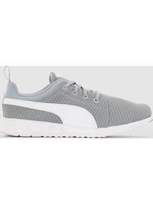 Carson Mesh Wns Low Top Trainers - secondary colour: white; predominant colour: mid grey; material: fabric; heel height: flat; toe: round toe; style: trainers; finish: plain; pattern: plain; occasions: activity; multicoloured: multicoloured; season: s/s 2016
