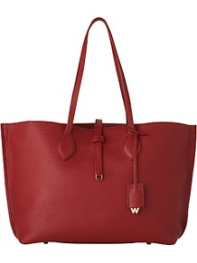 Regent Soft Leather Tote Bag - predominant colour: true red; occasions: casual, creative work; type of pattern: standard; style: tote; length: handle; size: oversized; material: leather; pattern: plain; finish: plain; season: s/s 2016