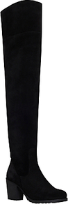 Skyler Over The Knee Boots, Black Suede - predominant colour: black; occasions: casual, work, creative work; material: suede; heel height: high; heel: block; toe: round toe; boot length: over the knee; style: standard; finish: plain; pattern: plain; shoe detail: tread; season: a/w 2016